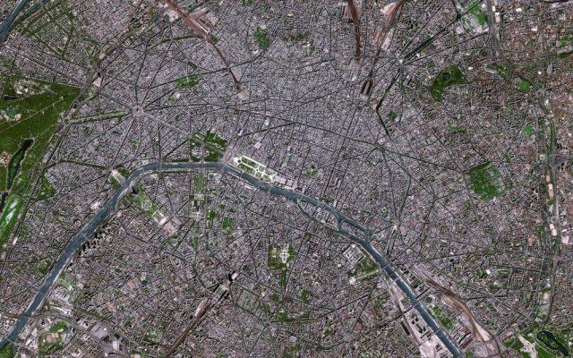 paris-innenstadt loodrecht